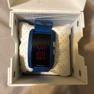 Diesel blue digital rubber watch DZ7166